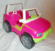 Vintage 1999 Barbie Pink Jeep Wrangler With Goodyear Tires