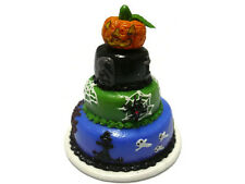 Dolls House Miniatures 3 Tiers Halloween Cake  Food  Art  Decor  Holiday-6