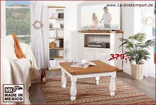 Couchtisch Wohnzimmertisch 70x70cm, weiß natur honig, Pinie, Shabby Chic Möbel