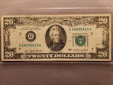 1977 $20 FEDERAL RESERVE NOTE [G 1600 5919 A]