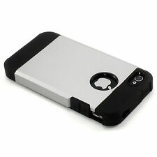 New Dual Layer Hard Case For iPhone 4 4S 4G (Available in Gold, Black or Silver)
