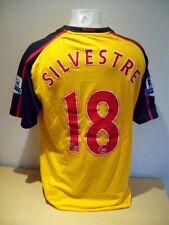 Silvestre Arsenal Match Worn 20008/09 Season Away Football Shirt AFTAL/UACC RD