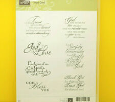 RETIRED Stampin Up Trust God Stamps Religious God Bless You God is Love Holiday