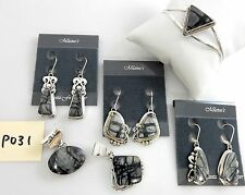 Southwest SILVER NEW Handmade Navajo Picasso Marble Jewelry Wholesale Lot p031