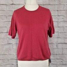 BNWT M&S Strawberry Pink 100% Cashmere Short Sleeve Jumper Size UK 18 rrp £69