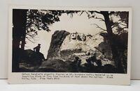 Mt Rushmore Memorial Gutzon Borglum, Rise Studio #616 RPPC Postcard C8