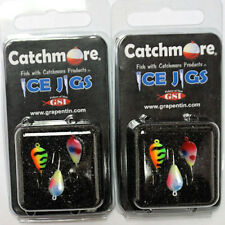Catchmore Ice Jigs Darby Style, Two Packs (3 jigs per pack), #8 Hook #Cmij1-3P