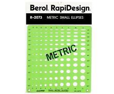 Berol Rapidesign Template: R-2073 Metric Small Ellipse