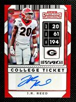 J.R. REED - 2020 Panini Contenders Draft Picks College Ticket RC AUTO AU #279