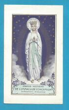 iMAGE PIEUSE  SANTINO HOLY  CARD MARIE IMMACULEE 1941