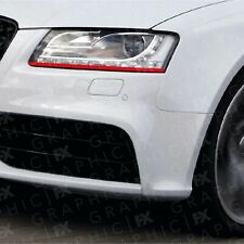 RED Audi A3 S line S3 RS3 Demon Devil Eye Headlight Decals Stickers