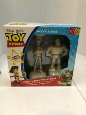 Disney Pixar Toy Story Paint Your Own Statue Buzz Lightyear Woody Figurine