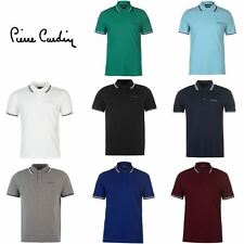 Pierre Cardin Tipped Polo Shirt Mens Top Tee Casual Collar T-Shirt