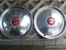 TWO 1950 CHRYSLER NEW YORKER HUBCAPS WHEEL COVERS ANTIQUE VINTAGE CLASSIC MOPAR