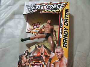 """WWE Flex Force Lightning Swing Kickin' Randy Orton 7"""" Action Figure by Mattel"""