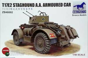 T17E2 STAGHOUND A.A. Armoured Car 1/48 model kit Bronco Models ZB48002