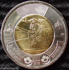 Canada $2 Twoonie Circulation 2016 75th Anniversary The Battle of Atlantic UNC