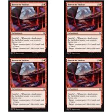 4 x RETREAT TO VALAKUT NM mtg Battle for Zendikar Red - Enchantment Unc