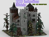 Lego MOC Medieval Forest Castle 2 Custom Model instructions, NO PARTS