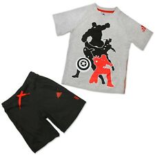 Adidas Marvel Avengers Bambini Set completo Spiderman Hulk Thor Captain America Grigio 5-6a