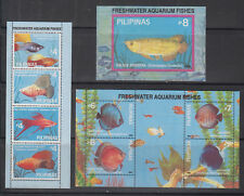 Philippine Stamps 1992 Freshwater Aquarium Fishes I souvenir sheets (3) MNH
