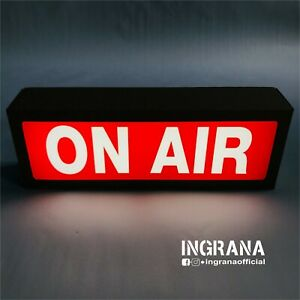 Insegna luminosa ON AIR in cartotecnica, luce on air, Led light box Sign