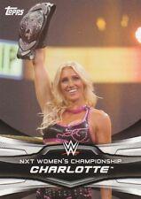Topps 2016 WWE Divas Revolution NXT Women's Championship Charlotte Card #8