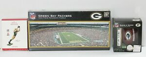 Green Bay Packers Sports Package-Stadium Puzzle, Dice Game +Nelson  Ornament