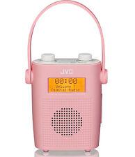 JVC RA-D11-P Portable DAB Digital/FM Clock Shower Radio Pink - Faulty
