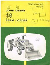 JOHN DEERE 46 SERIES FARM LOADER ATTACHMENT ORIGINAL 1962 OPERATORS MANUAL