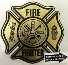"Gold Coburn Vinyl Decal, Firefighter 2.75""   #FD70"