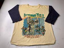 VINTAGE JETHRO TULL STORMWATCH TOUR 1979 BASEBALL RAGLAN CONCERT T SHIRT LARGE