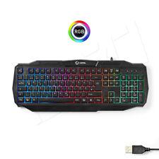 Gaming PC Tastatur LED Regenbogen RGB Beleuchtung USB Deutsches Layout XBOX PS4