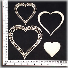 Chipboard Embellishments for Scrapbooking, Cardmaking - Heart Frames 105113w