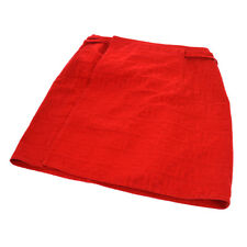 Authentic Fendi Vintage Zucca Pattern Skirt Red Cotton Italy Ak26422