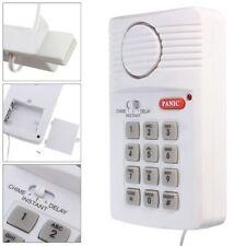 Teclado De Seguridad Sistema de Alarma de Puerta para puertas Cobertizo Garaje Caravana & botón de pánico