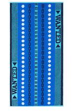 Ross Strandtuch Wanted 70 x 150 cm Walk-Frottier blau 100% Baumwolle