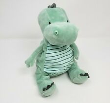 """9"""" CARTER'S JUST ONE YOU 2018 BABY GREEN DRAGON STUFFED ANIMAL PLUSH TOY RATTLE"""