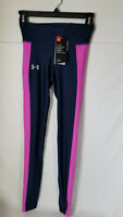 UNDER ARMOUR WOMEN'S HEATGEAR COMPRESSION LEGGINGS NAVY SZ XS OR S #1320381-NWT
