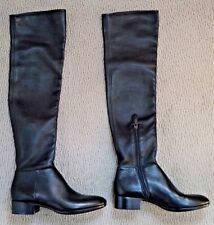 NEW ALAIA black stretch leather over the knee boots Italian size 39 US 8 8.5