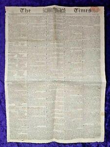 1815 Edition of 'The Times' British Newspaper - Napoleon escapes Elba