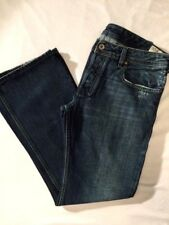 DIESEL Industry Jeans * ZATHAN * Distressed BOOT CUT Button Fly 0071S Mens 32x30