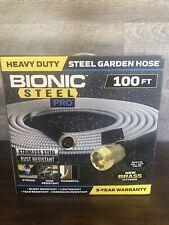 Brand New Bionic Steel Pro Stainless Steel Metal Garden Hose 100 Ft