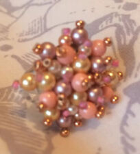 Pastel Colour Cluster Ring