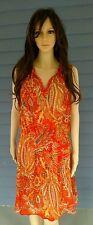 """New w Tags Lauren by Ralph Lauren Women""""s Dress Orange Multi Size 10"""