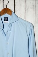 KAMAKURA Maker's Shirt French Cuff Spread Collar Dress Shirt Xinjiang 80 Blue