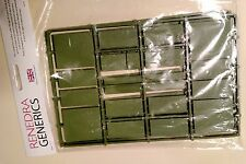 Renedra 15mm Mixed Wargaming Infantry Bases - Green Bases