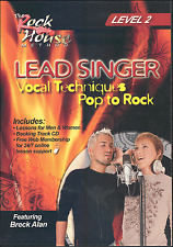 Lead Singer Vocal Techniques Level 2 DVD Pop To Rock With Backing Track CD Voice