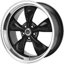 "18"" American Racing AR105M Torq Thrust 18X8 Black WHEEL SET 105 Rims FOOSE"