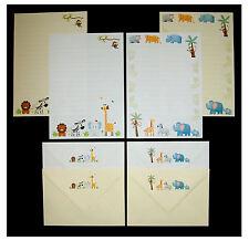 Carino COLORATO giungla animali scrivere lettere stationery Set WHITE & Cream LIBRO